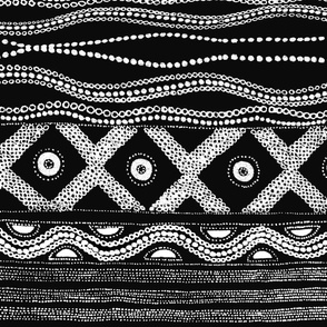 Caribbean Batik - Black and White
