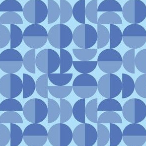 Blue Round Geometric Circles