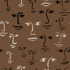 faces mixed - dark mocha