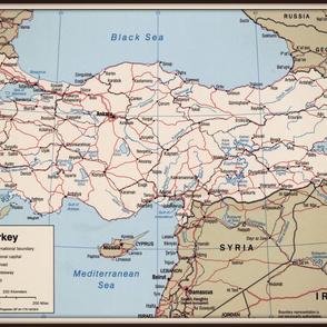 Turkey map, large
