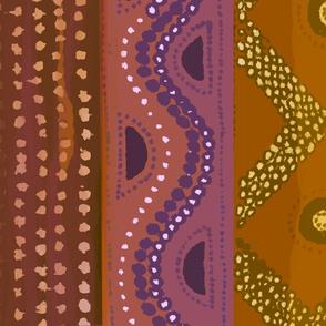 Caribbean Batik 54x45RUST