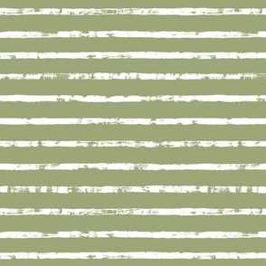 Distressed Green Smoke and White Stripes
