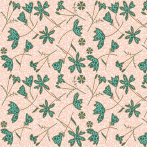Teal Blush Garden Wildflowers