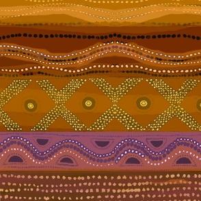 Caribbean Batik - Rust 21x26
