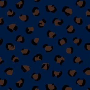 Trendy panther print animals fur minimal Scandinavian style raw brush abstract color chocolate brown navy black winter