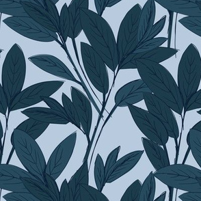 Lush leaves autumn tree leaf garden vibes and fall dreams winter blue