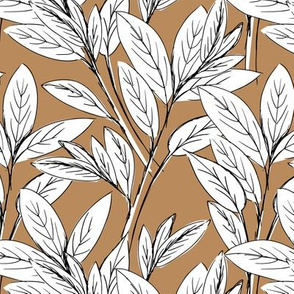 Lush leaves autumn tree leaf garden vibes and fall dreams caramel white