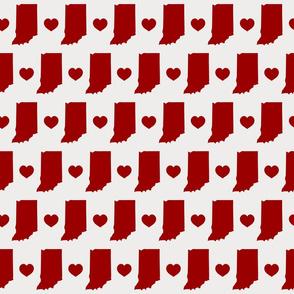 Indiana Crimson And Cream