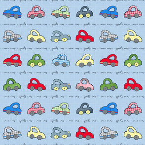 Sporty Cars Blue