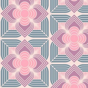 Art Deco Line Flower Pink