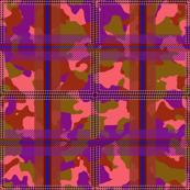Manleigh Camouflage Tartan Violet Dusk Medium
