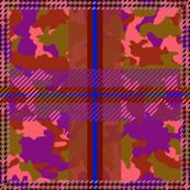 Manleigh Camouflage Tartan Violet Dusk Large