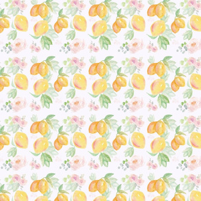 Watercolour Lemon Floral