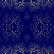 Royal Blue Frost Fractal Abstract