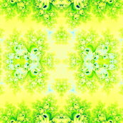 Sunny Spring Frost Fractal Abstract