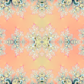 Peach Spring Frost Fractal Abstract