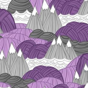 Rolling Landscape (Purple)