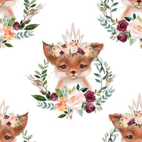 paprika floral fox with crown 6""