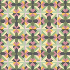 Geometric Medieval Gray LIlac Design 2