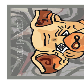 Pigcasso Animal Portrait Tea Towel Artist Series