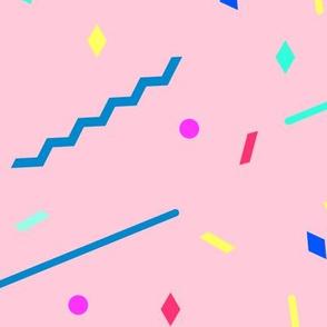 Bright Confetti on Pink