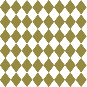 Green Olive Small Modern Diamond Pattern