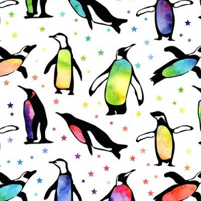 Rainbow Penguins - medium size