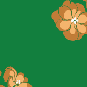 Retro Flowers and Green