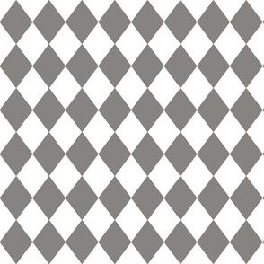 Frost Gray Small Modern Diamond Pattern