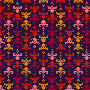 Fleur de lys purple