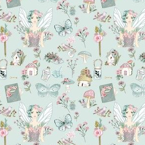 Fairy Times on Mint Background