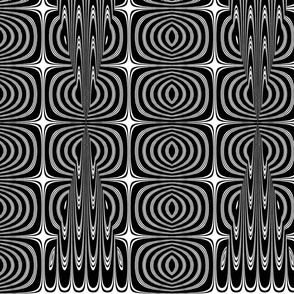 Black and White Cubist Pattern