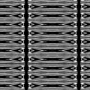 Black and White Spearhead Stripes