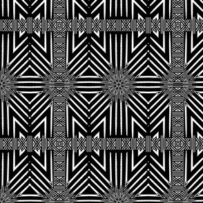 Black and White Repeat Wicker Pattern