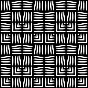 Black and White Weave Pattern