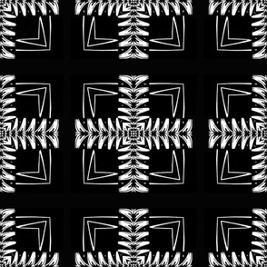 White and Black Feather Pattern