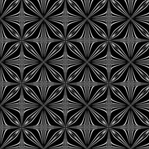 Black and White Petal Repeat