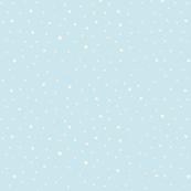 Powder blue snow storm polka dots spots