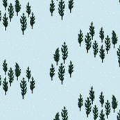 christmas forest pine forest half drop repeat christmas fabric christmas trees snowing