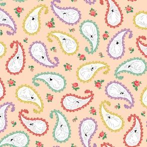 Dancing Paisley (Shell Pink)