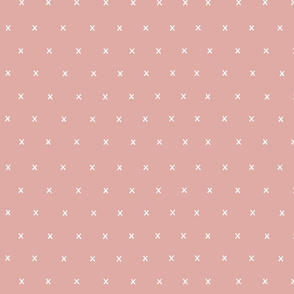 pink exes ex x cross crosses fabric gift wrap wrapping paper wallpaper girls scandi