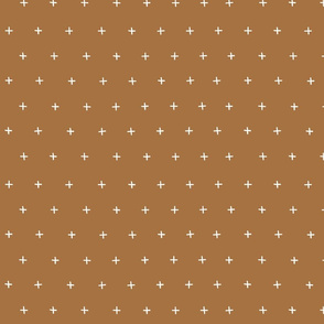 earth tone brown cross plus swiss cross swiss crosses scandi fabric gift wrap wrapping paper wallpaper