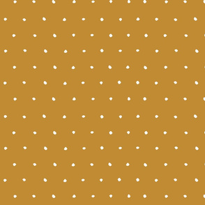 golden turmeric yellow scandi Dots Spots Dotty Spotty earth tones fabric gift wrap wrapping paper wallpaper