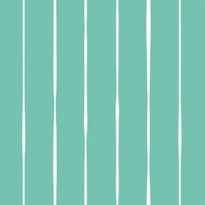 spearmint green vertical lines vertical stripes striped stripes hand drawn fabric gift wrap wrapping paper wallpaper