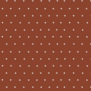 rust red cross plus swiss cross swiss crosses scandi basic mud cloth fabric gift wrap wrapping paper wallpaper