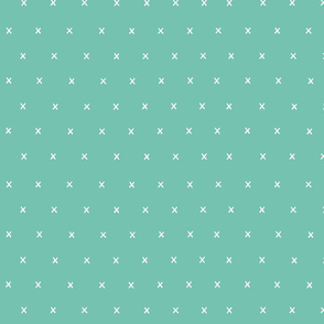 spearmint green exes ex x cross crosses mint scandi fabric gift wrap wrapping paper wallpaper