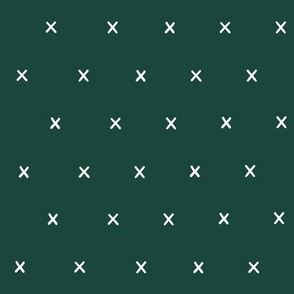 green dark exes ex x cross crosses fabric gift wrap wrapping paper wallpaper