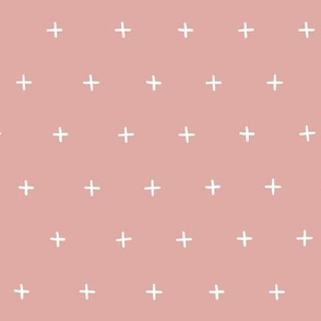 dusty pink cross plus swiss cross swiss crosses scandi girls fabric gift wrap wrapping paper wallpaper