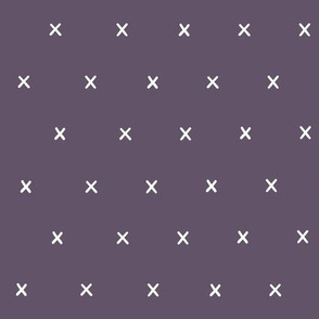 purple light violet exes ex x cross crosses fabric gift wrap wrapping paper wallpaper
