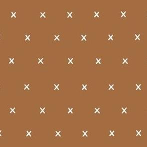 dark tan mustard yellow earth tone exes ex x cross crosses gift wrap fabric wallpaper wrapping paper